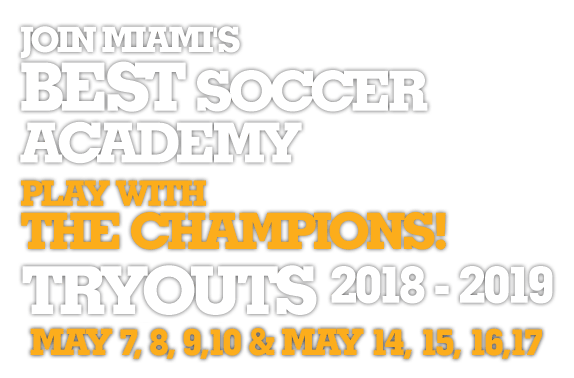 Join Miami's Best Soccer Academy pLay with The Champions!
